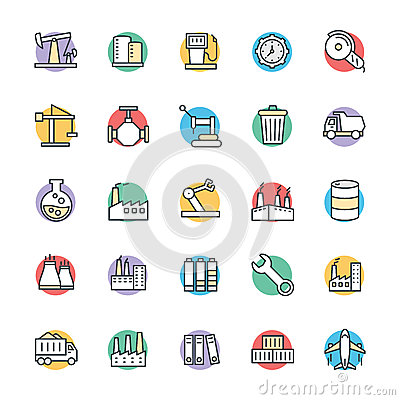 Free Industrial Cool Vector Icons 3 Royalty Free Stock Photos - 71294598