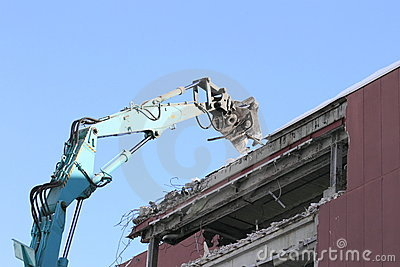 Industrial dismantle, mechanical destruction