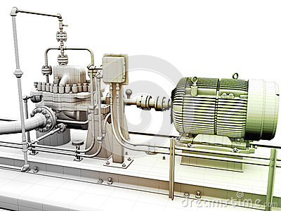 Industrial engine and power generator