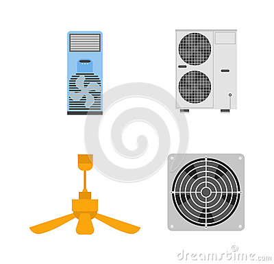 Free Industrial Fan Vector Illustration. Stock Photography - 73880362