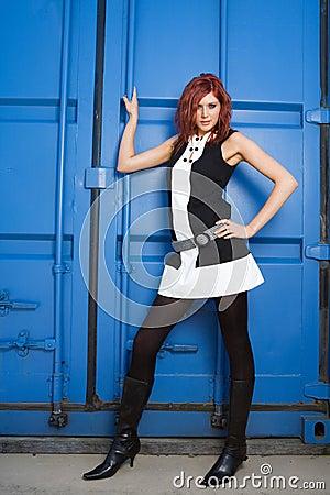 Industrial fashion woman