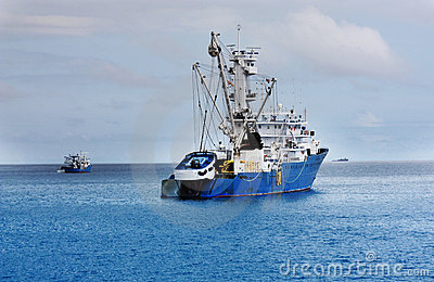 Industrial fishing vessel