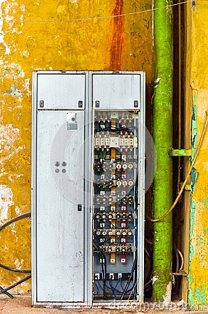 industrial fuse box on the wall royalty stock photo image industrial fuse box on the wall royalty stock photo image 30192575
