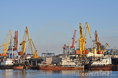Industrial Harbor Crane