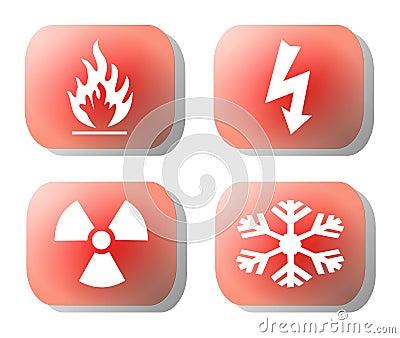 Industrial hazard symbols