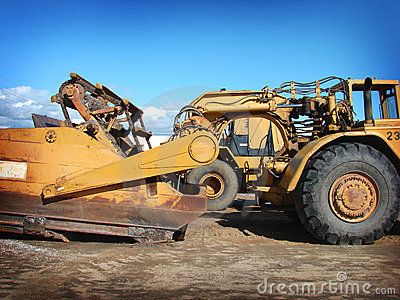Industrial heavy equipment machinery tractor Stock Photo