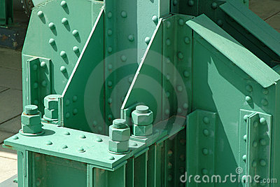 Industrial infrastructure in steel painted background