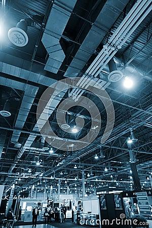Industrial interior background