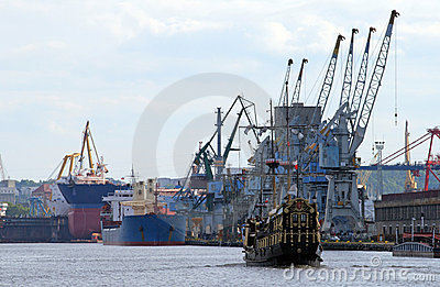 Industrial landscape in a harbour