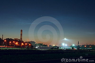 Industrial landscape night