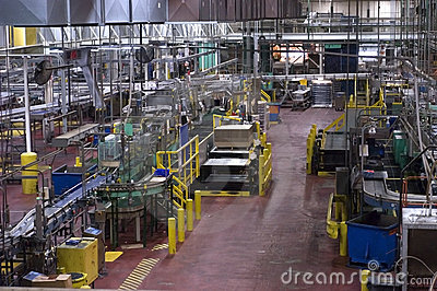 Industrial Manufacturing Shop Floor in a Factory