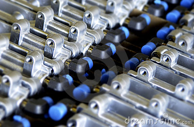 Industrial metal parts pattern