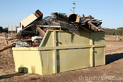 Industrial Metal Waste Skip Stock Photos - Image: 4218603