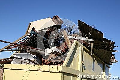 Industrial Metal Waste Skip