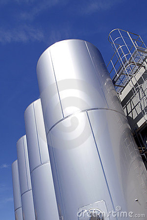 Free Industrial Metallic Tanks Stock Photo - 300790