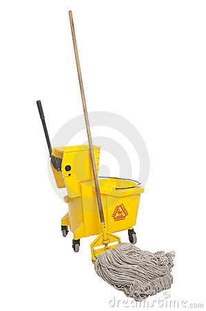 Free Industrial Mop And Bucket Royalty Free Stock Photo - 19050535