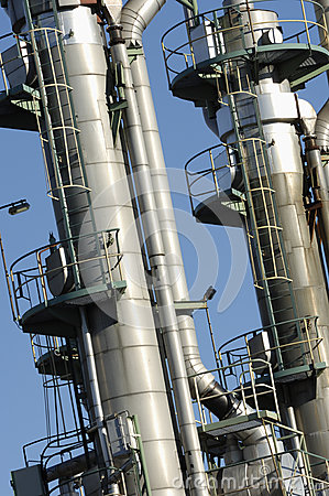 Industrial oil towers