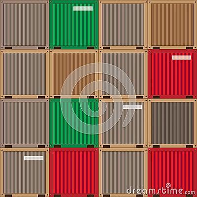 Industrial patchwork pattern