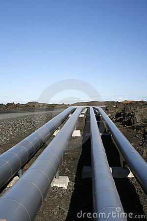 Free Industrial Pipelines In Vulcanic Landscape Stock Photo - 4241280