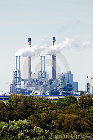 Industrial pollution and trees