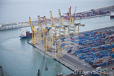 Industrial port area Editorial Stock Image