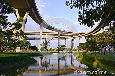 The Industrial Ring Road Bridge.