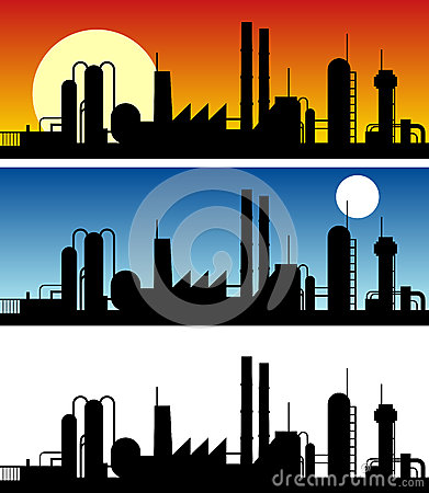 Industrial Silhouette Banners