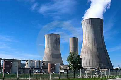 Industrial site in nuclear power