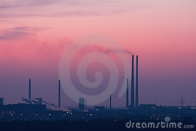 Industrial Skyline after Sunset