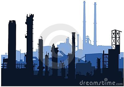 Industrial skylines (blue)