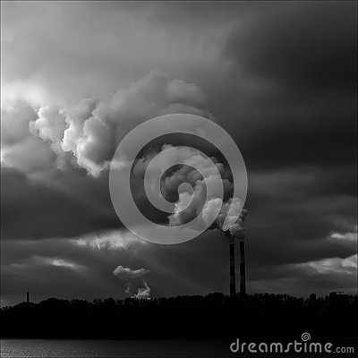Free Industrial Smoke From Chimney Royalty Free Stock Photo - 26298655