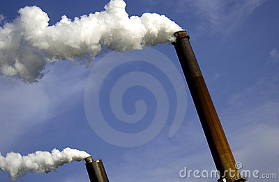 Industrial smoke stacks