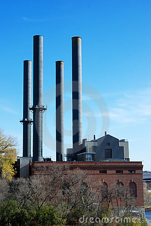 Industrial smokestacks
