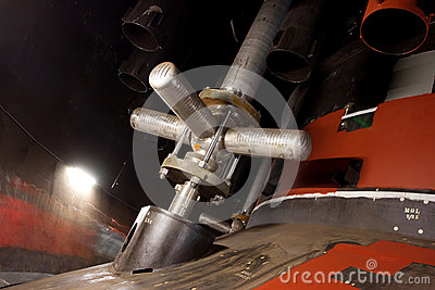 Industrial space close with nuclear reactor Editorial Stock Photo