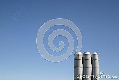 Industrial Stacks Blue Sky