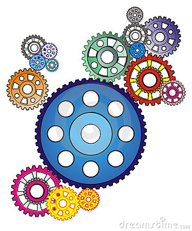 Industrial still life - arrangement of gears,