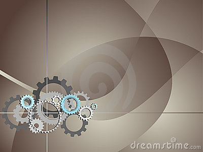 Industrial Technology Background with Gears