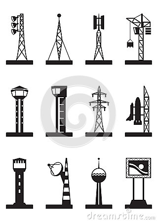 Industrial towers and poles