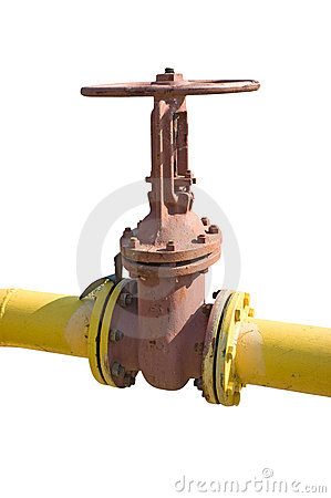 Industrial valve on the oil pipe