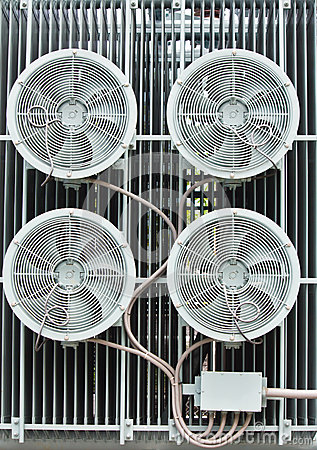 An industrial ventilation fan