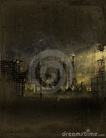 Industrial Wasteland Stock Image - Image: 23104851