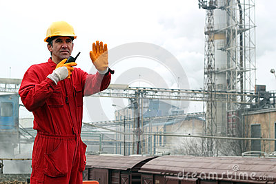 Industrial Worker in Sugar Refinery