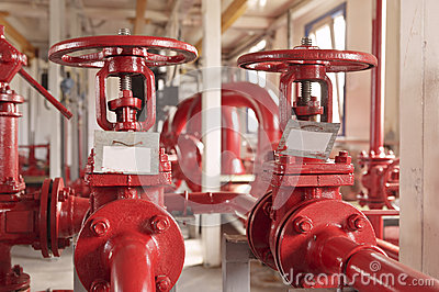 Industrial zone, valve pipelines