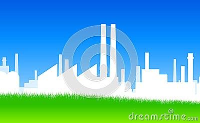 Industrie-Schattenbild