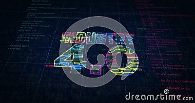 Industrie 4 0-Zeichen-futuristische Skizze stock video footage