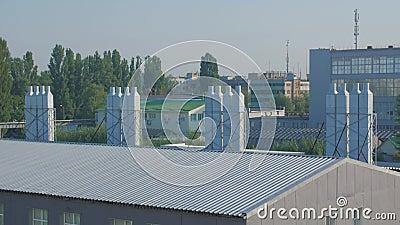 Industrieel ventilatiesysteem stock videobeelden