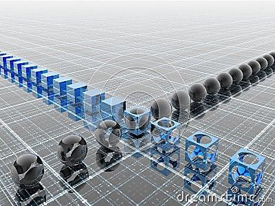Industriële blauwe lijn