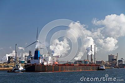 Industry cargo ship