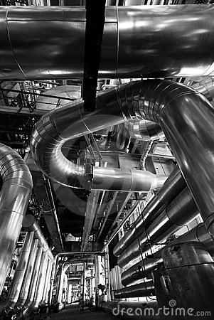 Free Industry Concept Pipes Tubes Bw Stock Image - 10592031