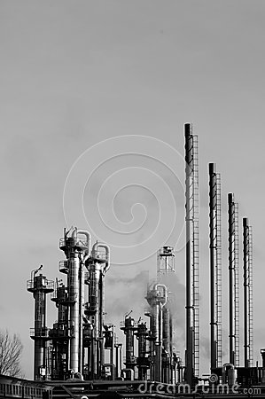 Industry in a dark concept
